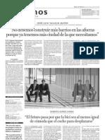 Entrevista a José Luis Vallejo (Ecosistema Urbano) - Diario de Noticias, 25 de octubre de 2010