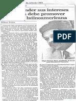 Edgard Romero Nava, Venezuela Debe Promover Una OPEP Latinoamericana - El Nacional 30.07.1985