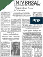 PDVSA Deja Tasa de Cambio Subvaluada - El Universal 10.12.1986
