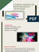 colorantes naturales y artificiales