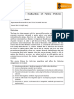 Analysis and Evaluation of Public Policies