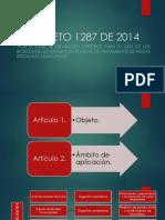 Exposición Decreto 1287 de 2014