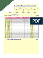 (20) Calculate _ Voltage Regulation of Line (1.1.19)