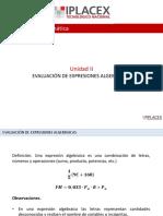 Guia 4 2 Evaluación de Expresiones Algebraicas