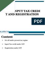 Input Tax Credit Edited