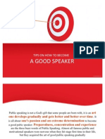 Step by Step Tips on How to Become a Good Speaker (Ppt)