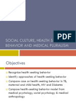 Social Culture Health Seeking Behavior