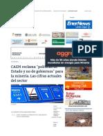 Mining Press _ CAEM Reclama _políticas de Estado y No de Gobierno
