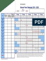 Secondary Calendar 2019 2020
