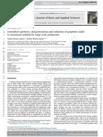 Síntesis Controlada, Caracterización y Reducción de Óxido de Grafeno