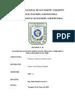 Analisis de Datos Estadisticos e Inflacion en El Peru