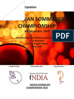 Indian Sommelier Championship 2010 - Participation Form