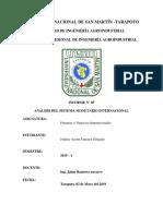 análisis del sistema monetario internacional