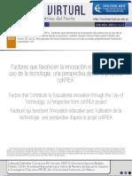 Factores que favorecen la innovación educativa con el uso de la tecnología