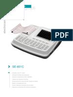 Electrocardiografo Se 601c Especificaciones Tecnicas