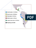 Distribucion Geografica de Lenguas en LA