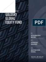 A Guide to the Goldsky Global Equity Fund 1 1