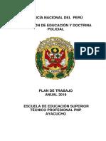 Plan de Trabajo Anual Eestp Pnp Ayacucho 2019
