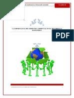 La Importancia Del Derecho Ambiental en El Desarrollo Sostenible