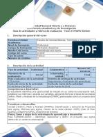 Guía de Actividades y Rúbrica de Evaluación - Fase 3-DMAMC-Definir