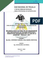 2017 INFLUENCIA SOCIO CULTURAL EN LOS ADOLESCENTES QUE PARTICIPAN EN LOS TALLERES ARTÍSTICOS.pdf