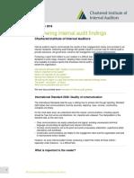 Delivering Internal Audit Findings