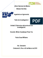 Unidad 2 Estructura Del Protocolo de Investigación.