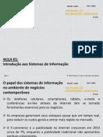 Aula 01- Introdução Aos Sistemas de Informação