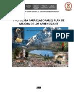 Plan de Mejora Ugel 2019