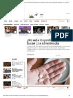 ¿No Más Ibuprofeno_ Francia Lanzó Una Advertencia