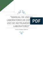 Manual de Uso de Laboratorio de Ciencia y Uso de Instrumentos de Laboratorio