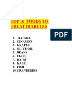 10 Foods for Diabetic