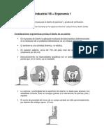 Ergonomia para el diseño de asientos