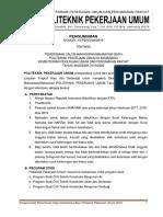 Pengumuman PMB PPU 2019/2020