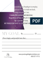 Paradigm Shift Goal Card