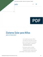 Nuestro Sistema Solar (Niños) - Información y Características - Geografía