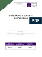 Csp.man.p.01 Procedimiento de Gestion de Equipos Medicos - V.03