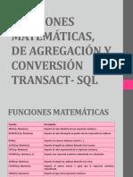 Funciones Matemáticas, De Agregación y Conversión