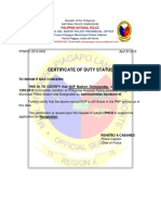 Duty Status and Non Pending Case Badron New