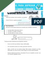 Ficha Coherencia Textual Para Cuarto de Primaria
