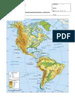 Prueba Geografía de América 4º