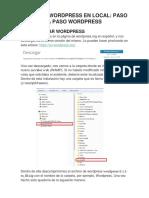 Manual de Instalacion de Wordpress