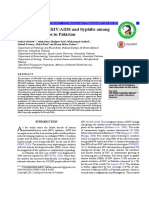 Epidemilogy of Hiv and Syphilis in Pakistan