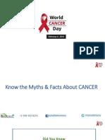 World Cancer Day Myths.8369453.Powerpoint