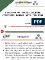 Behaviour of Composite bridge with isolators