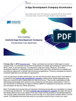 The Leading Android App Development Company Accelerates Your Business