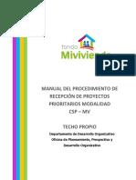 Manual Del Procedimiento de Recepcion de Proyectos Csp