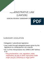 Chapter 2 - Subsidiary Legislation