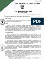 Plan 12163 Ordenanza Municipal n 275-2013-Mpo 2013