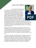 Dr. Shetty's Letter to the Children